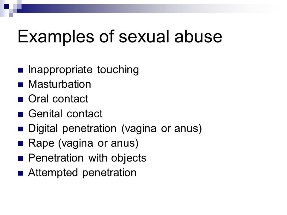 Examples of sexual abuse