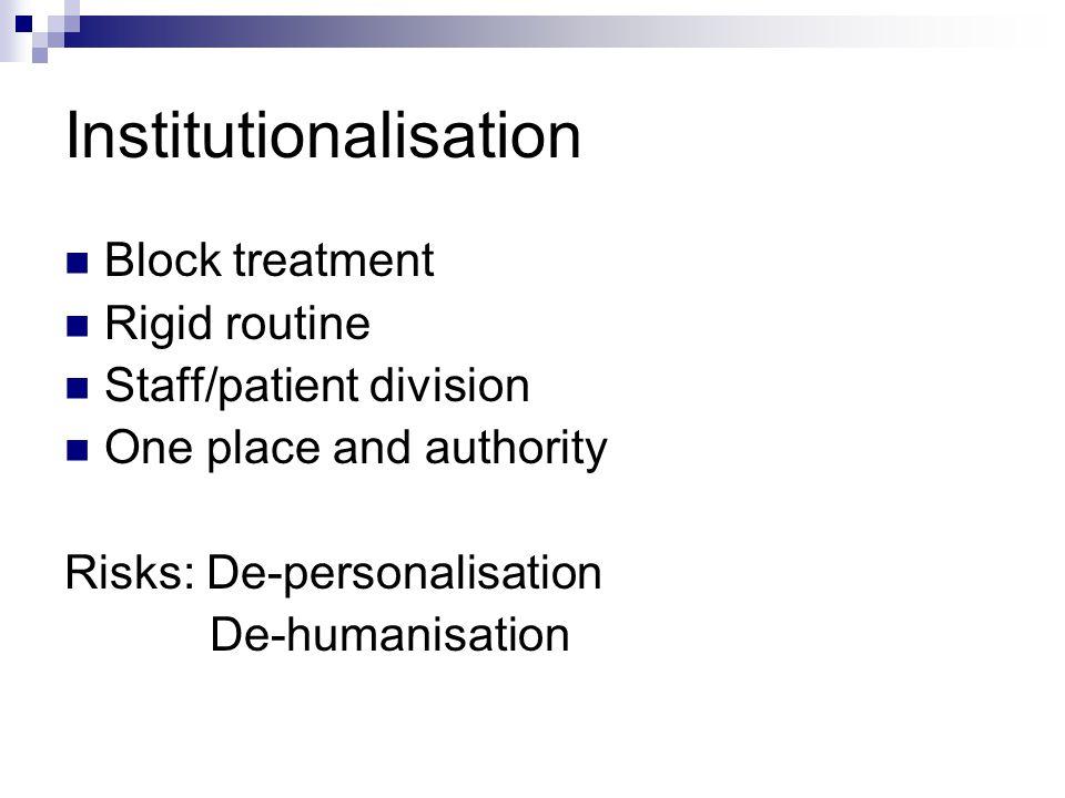 Institutionalisation