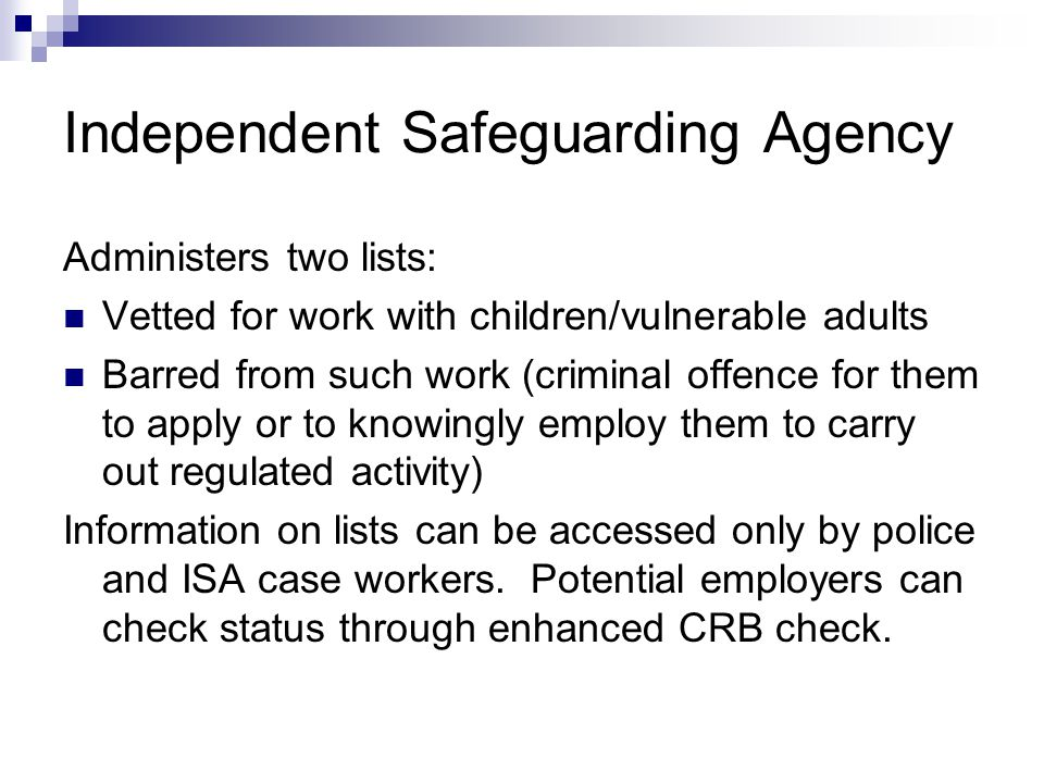 Independent Safeguarding Agency