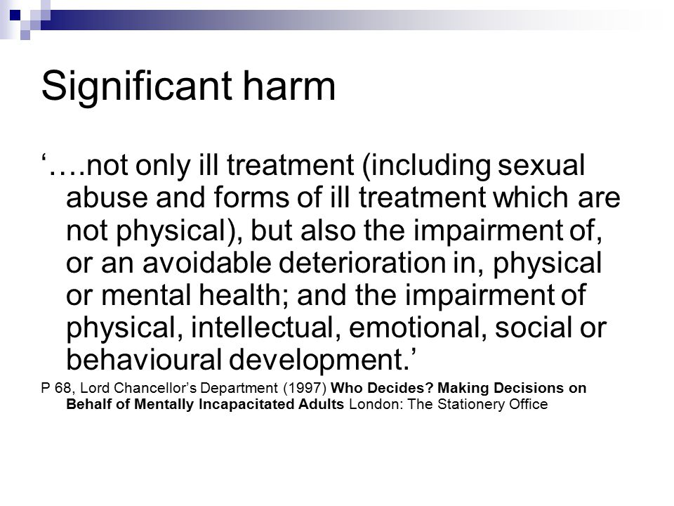 Significant harm