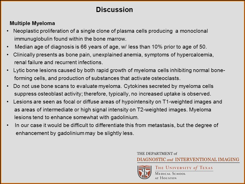 Discussion Multiple Myeloma