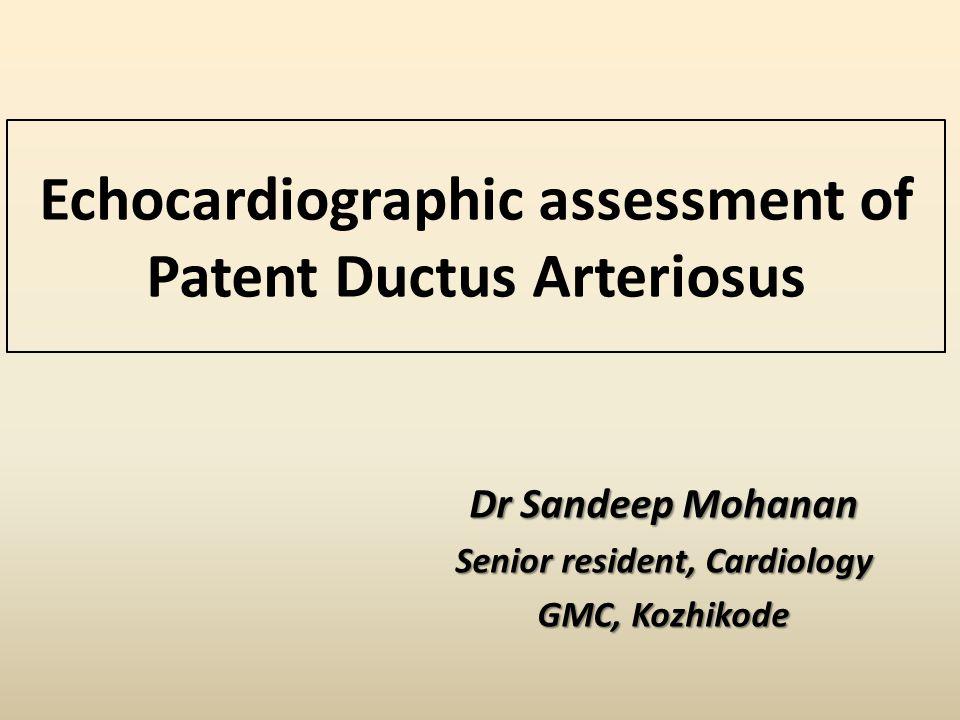 Echocardiographic assessment of Patent Ductus Arteriosus