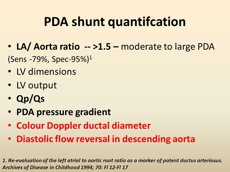 PDA shunt quantifcation