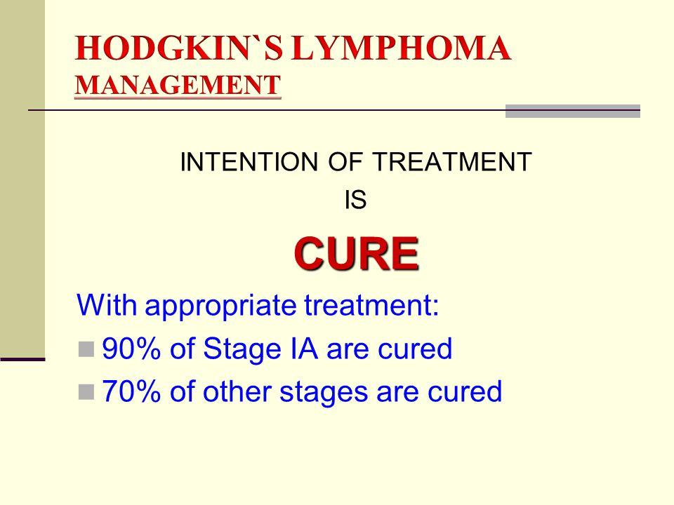 HODGKIN`S LYMPHOMA MANAGEMENT