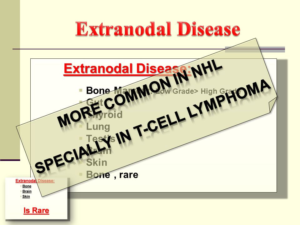 Specially in T-Cell Lymphoma