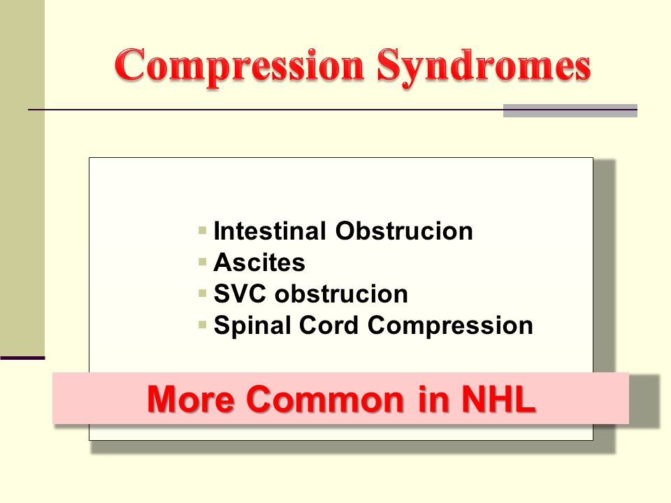 Compression Syndromes