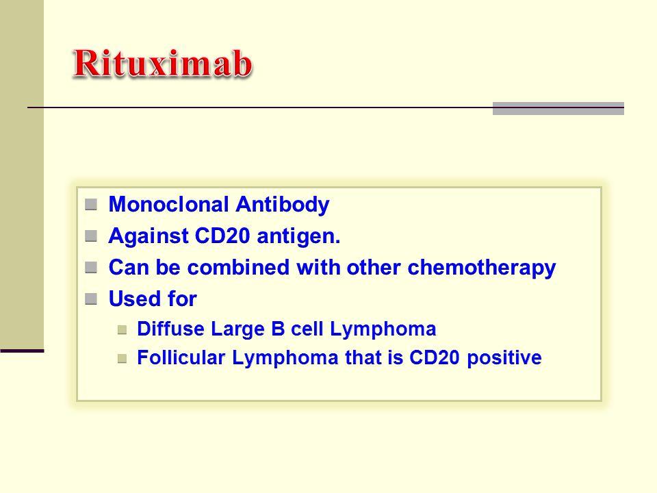 Rituximab Monoclonal Antibody Against CD20 antigen.