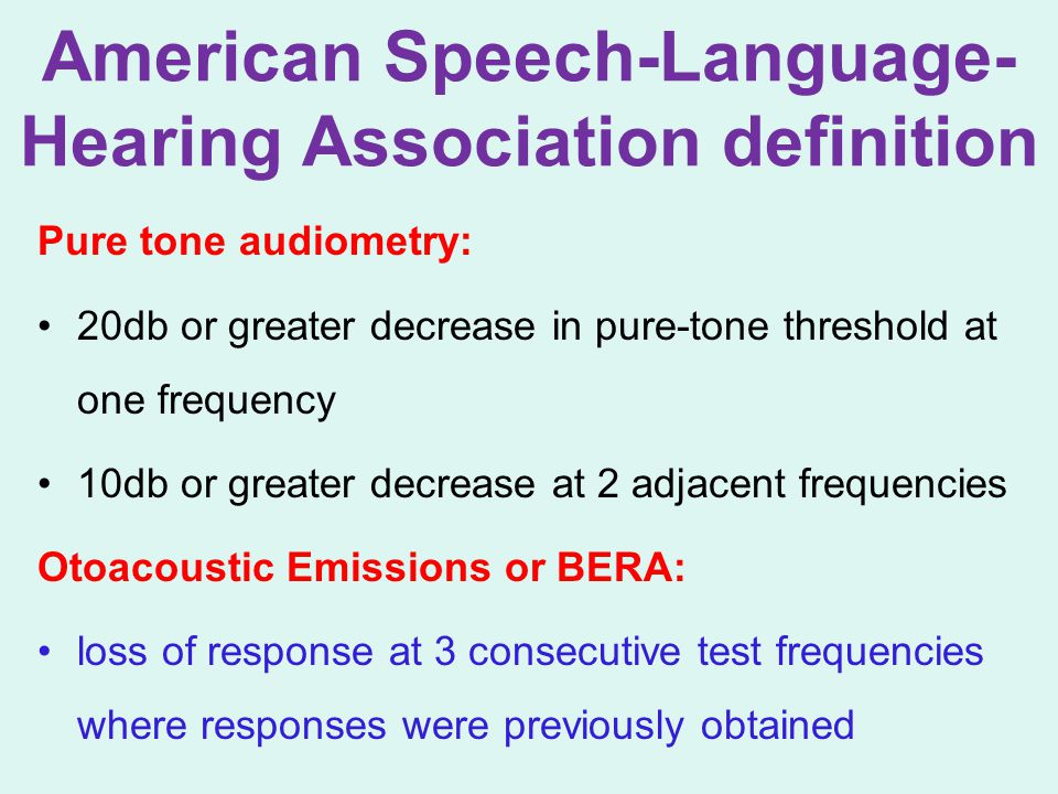 American Speech-Language-Hearing Association definition