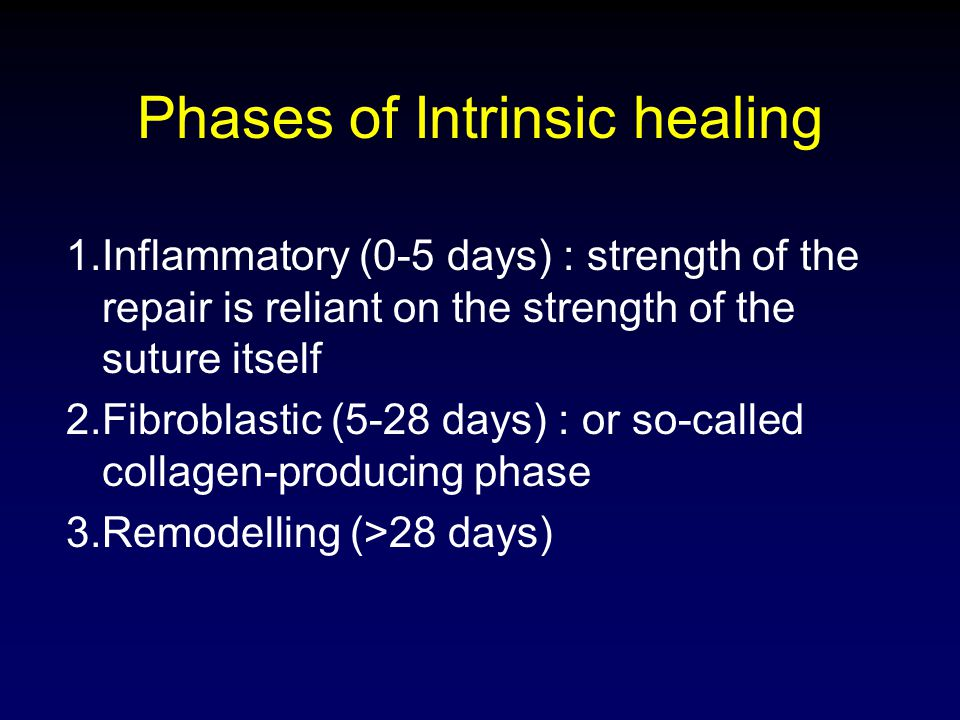 Phases of Intrinsic healing