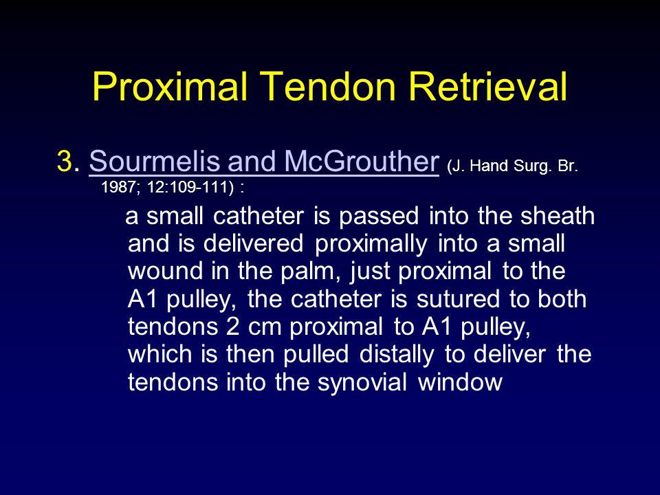 Proximal Tendon Retrieval