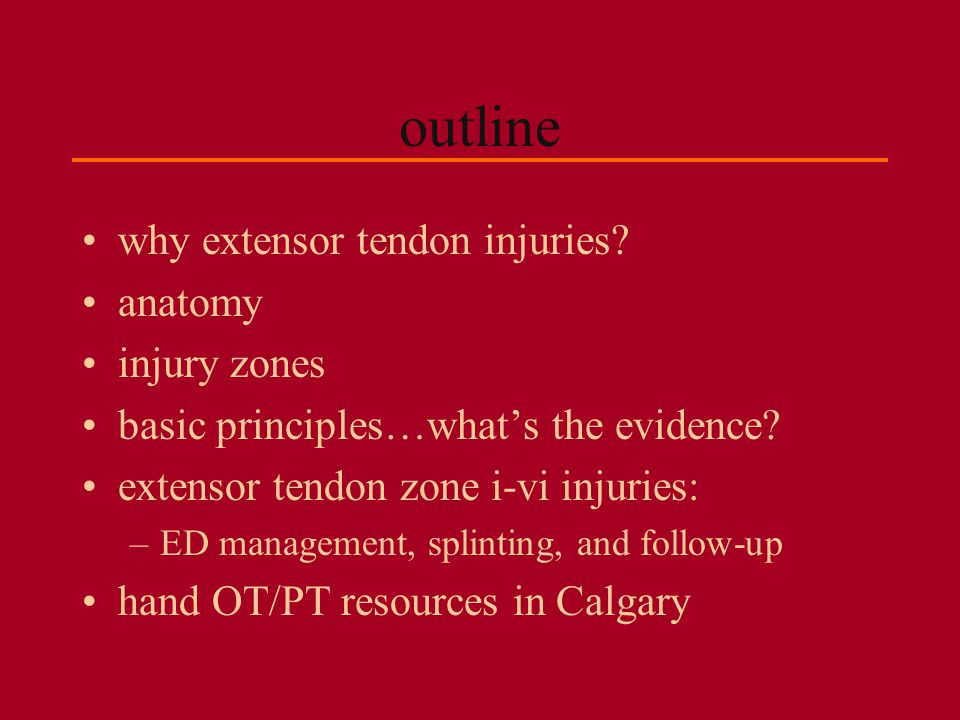 outline why extensor tendon injuries anatomy injury zones