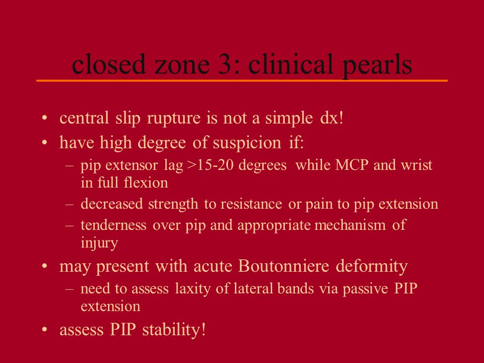 closed zone 3: clinical pearls