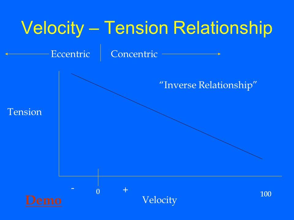 Velocity – Tension Relationship