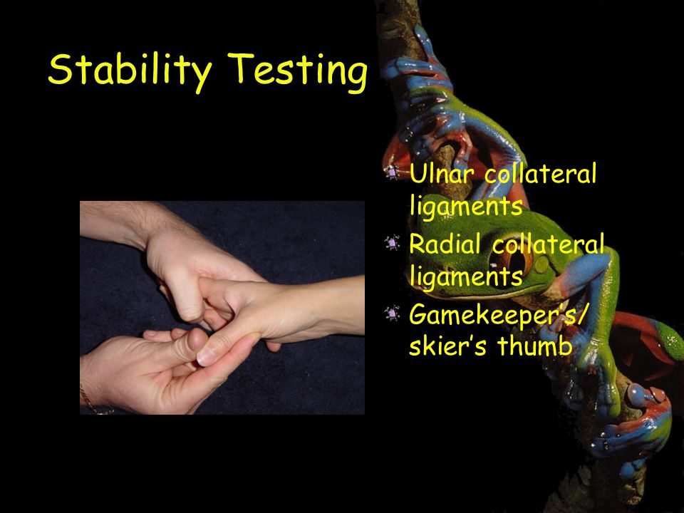 Stability Testing Ulnar collateral ligaments