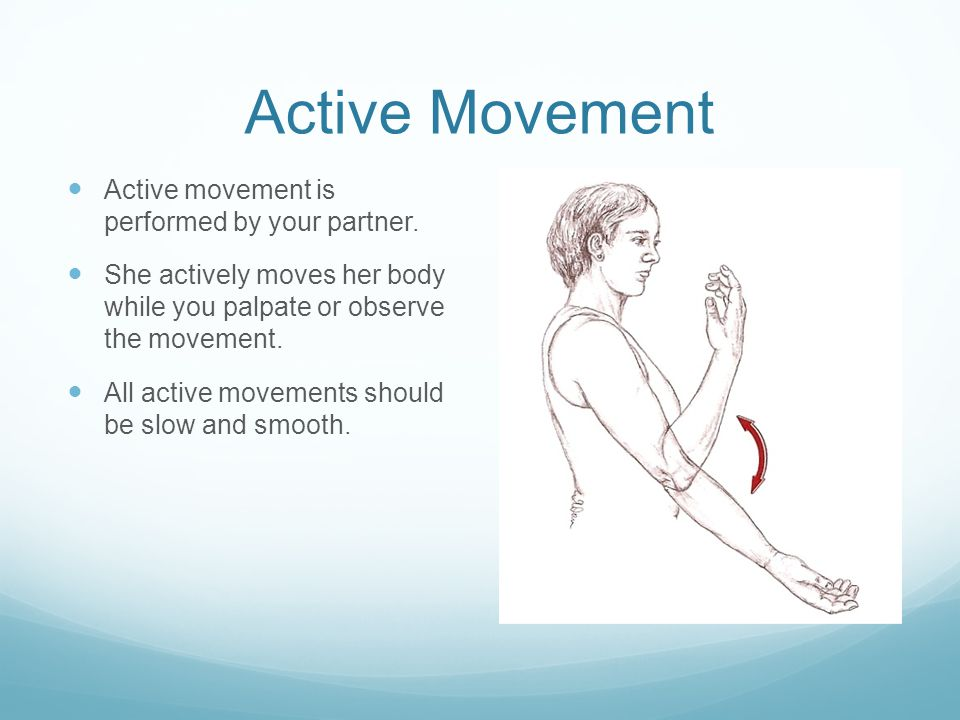 Active Movement Active movement is performed by your partner.