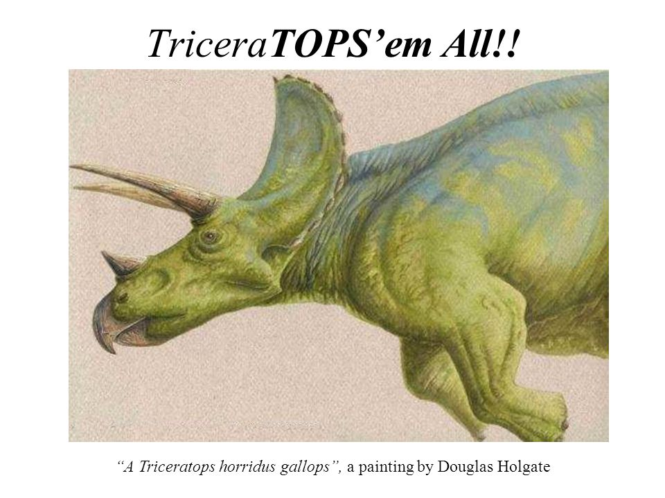 A Triceratops horridus gallops , a painting by Douglas Holgate