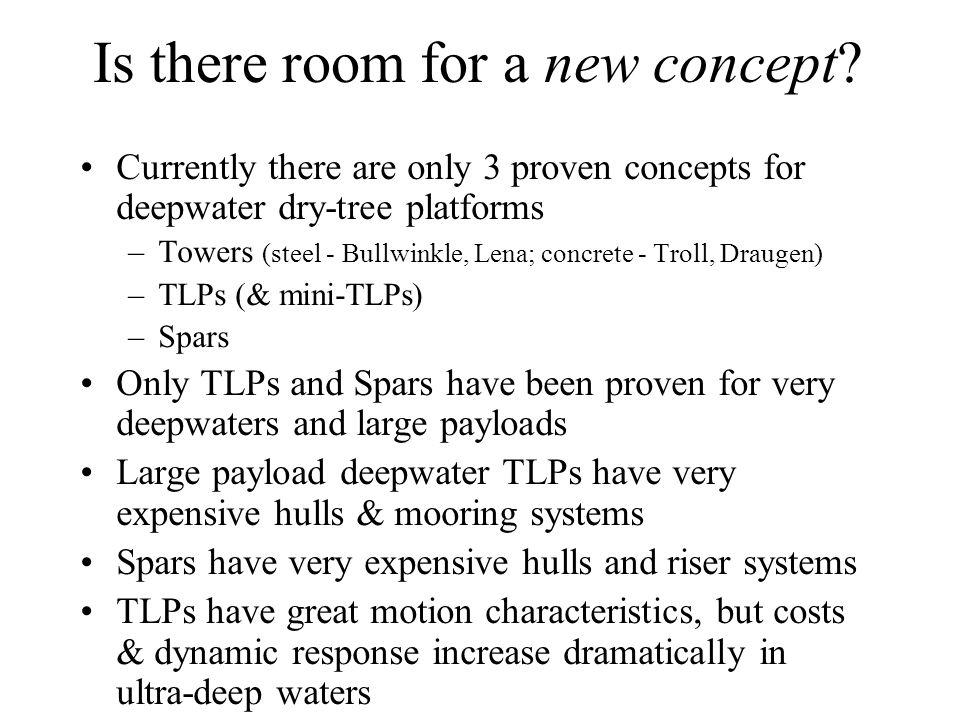Is there room for a new concept