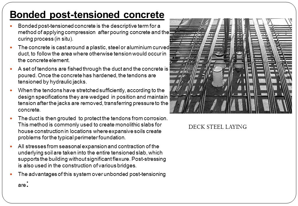 Bonded post-tensioned concrete