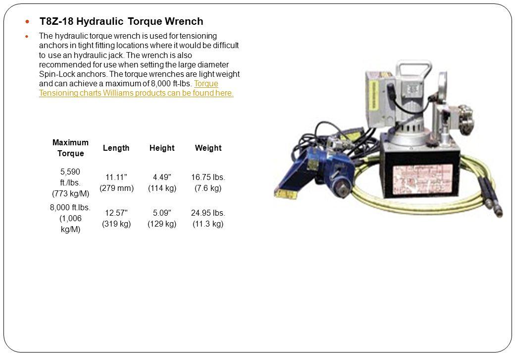 T8Z-18 Hydraulic Torque Wrench