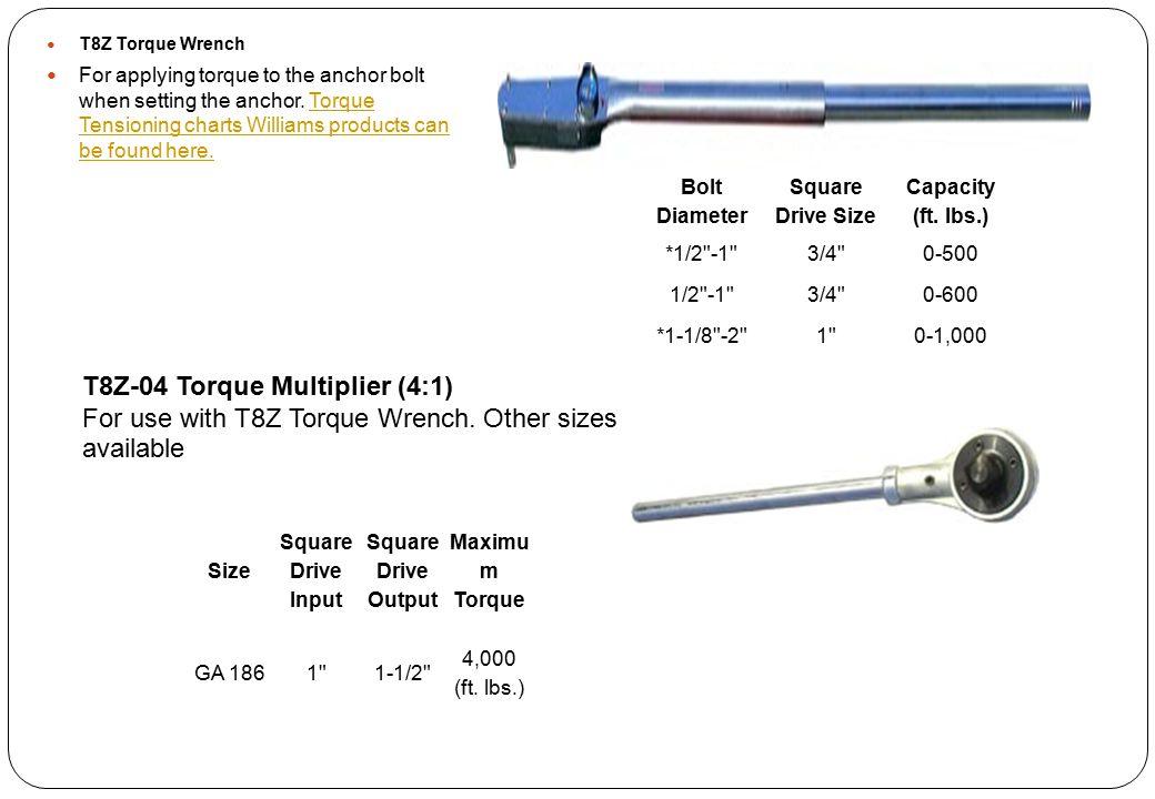 T8Z-04 Torque Multiplier (4:1)