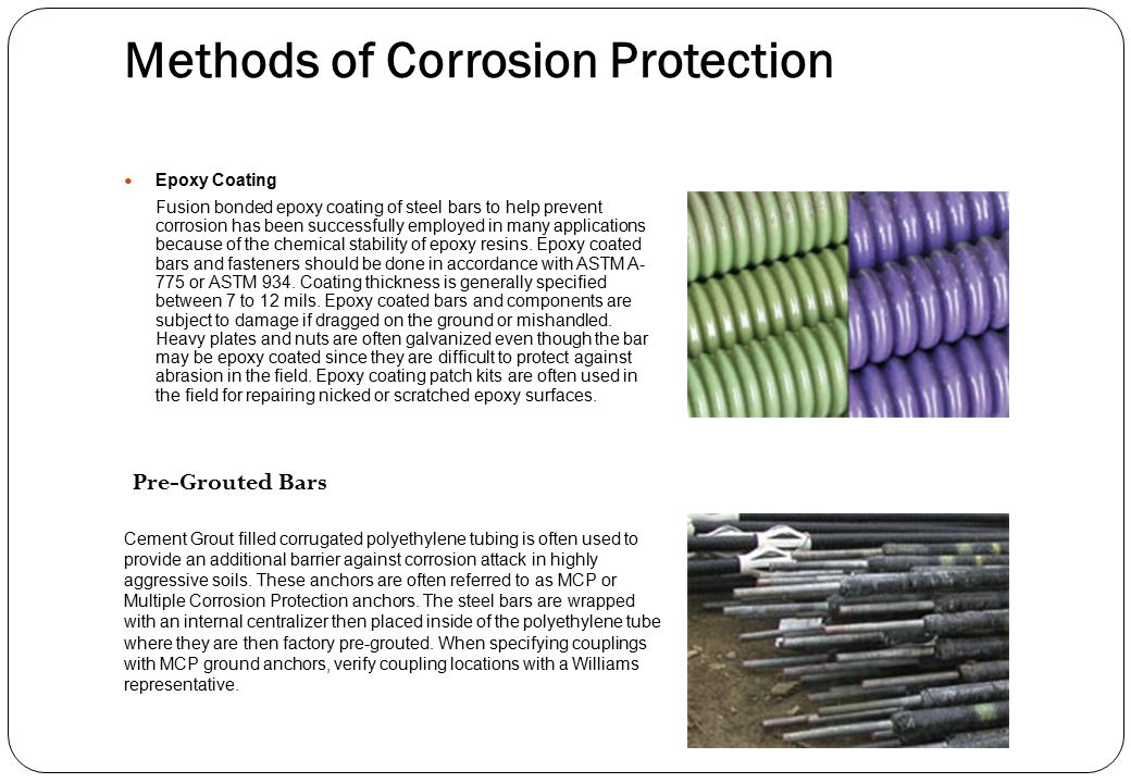 Methods of Corrosion Protection