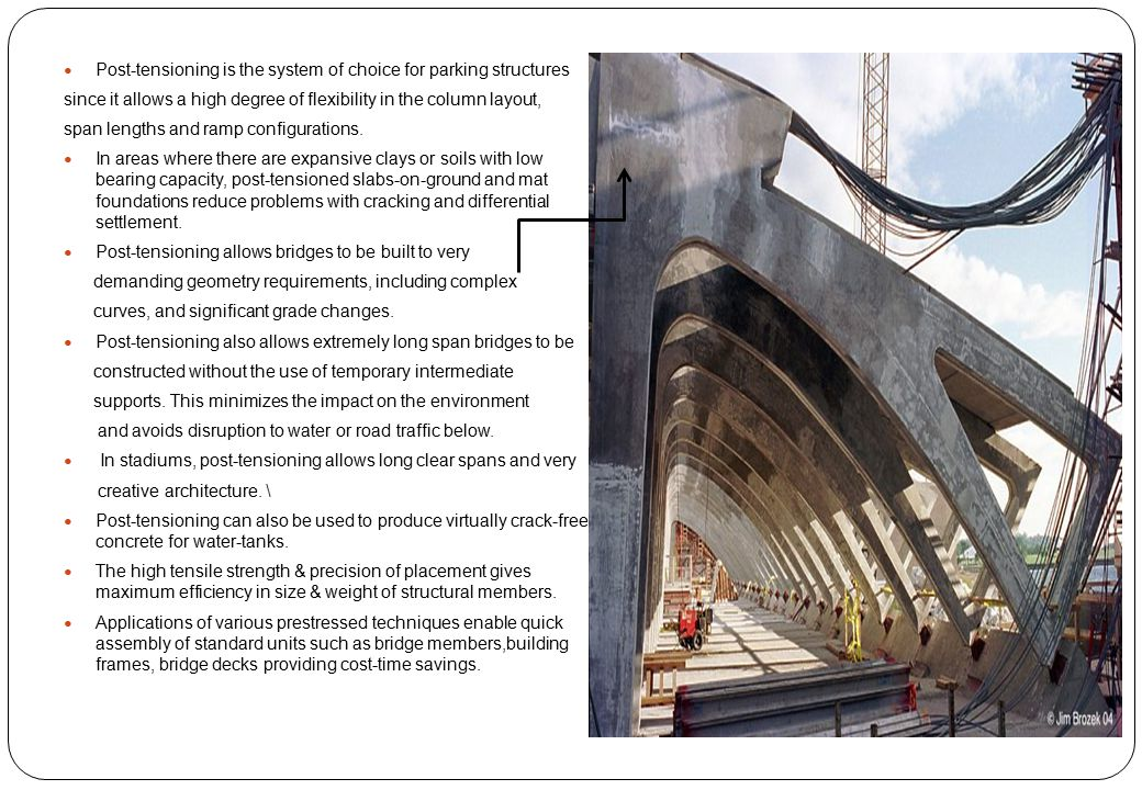 Post-tensioning is the system of choice for parking structures