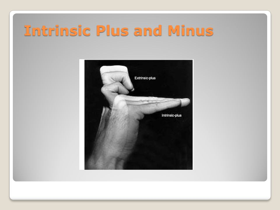 Intrinsic Plus and Minus
