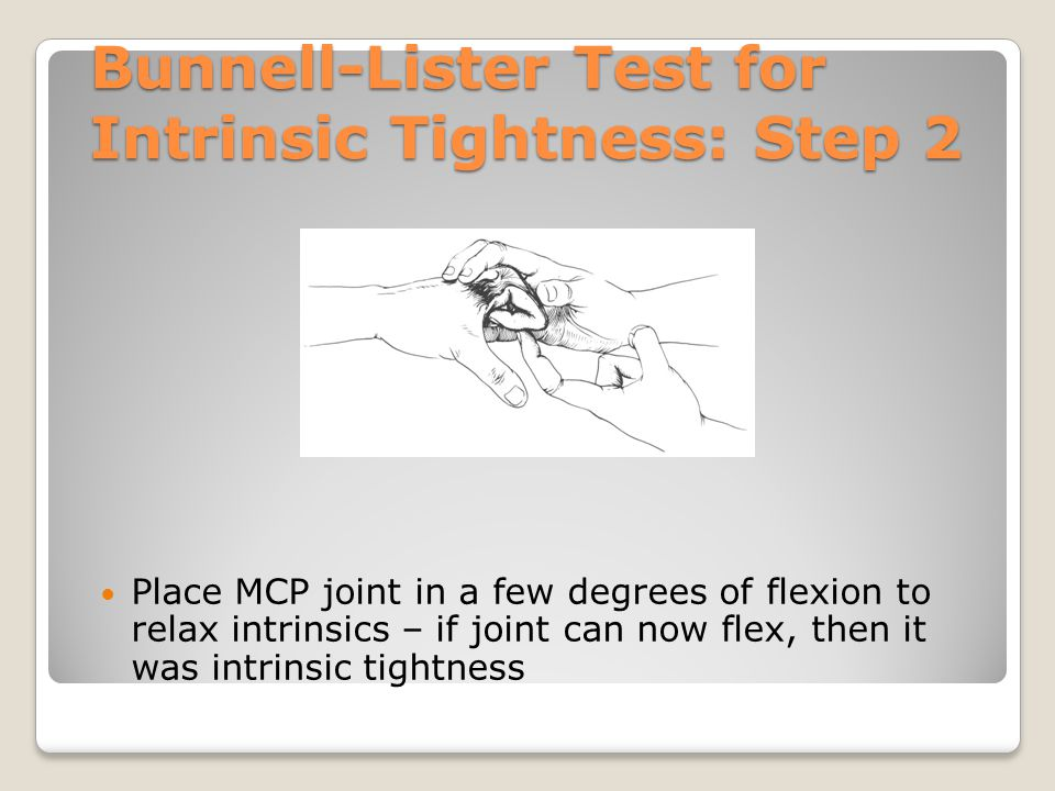 Bunnell-Lister Test for Intrinsic Tightness: Step 2