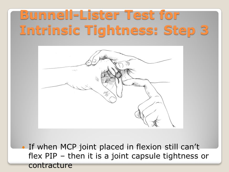 Bunnell-Lister Test for Intrinsic Tightness: Step 3