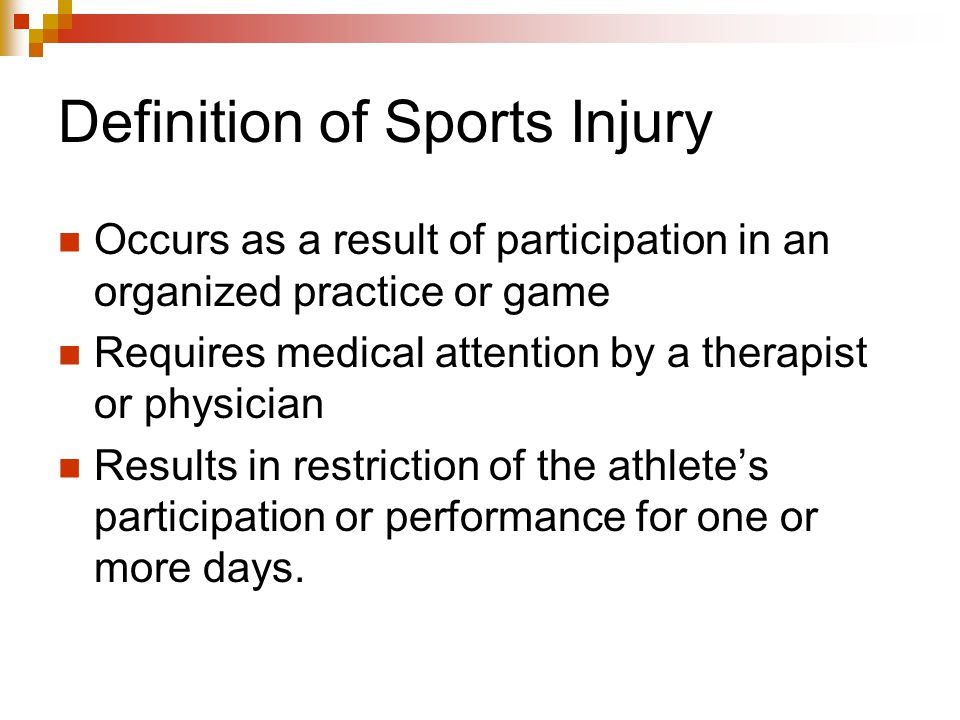 Definition of Sports Injury