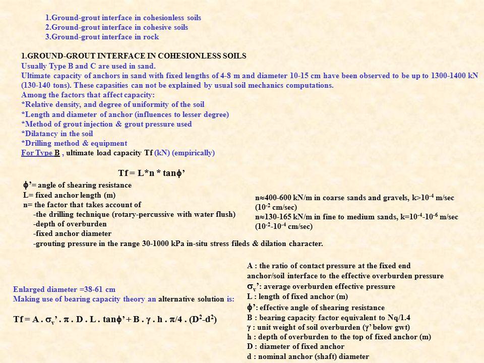v': average overburden effective pressure