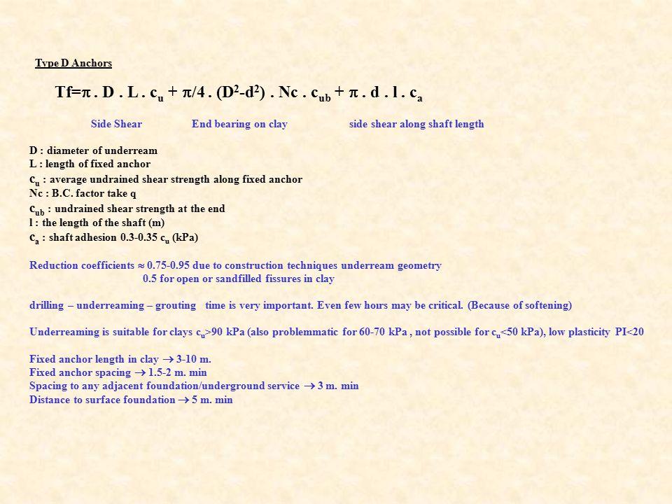 Tf= . D . L . cu + /4 . (D2-d2) . Nc . cub +  . d . l . ca