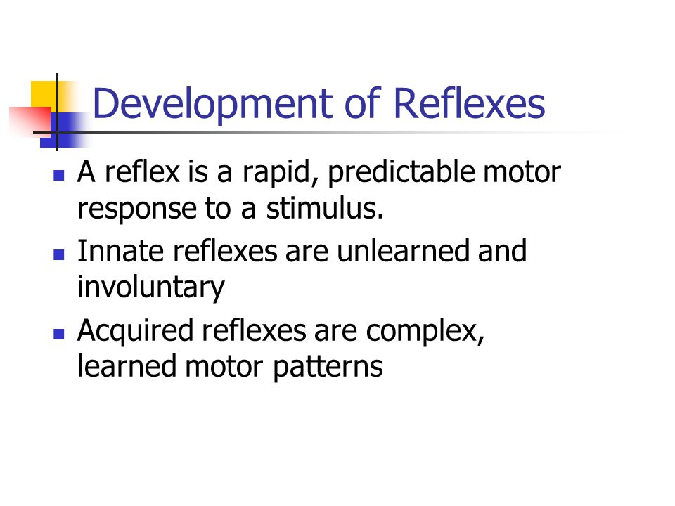 Development of Reflexes