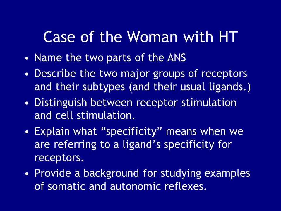 Case of the Woman with HT