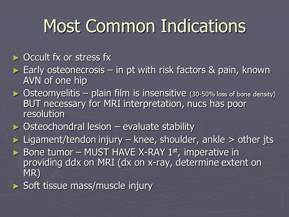 Most Common Indications