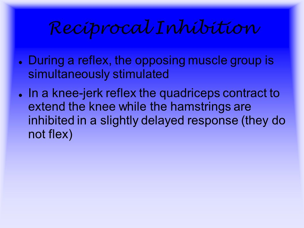 Reciprocal Inhibition