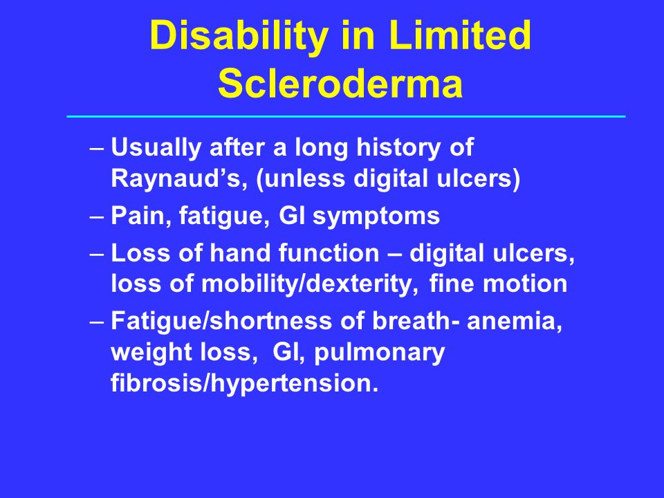 Disability in Limited Scleroderma