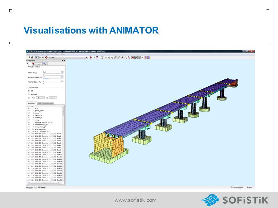 Visualisations with ANIMATOR