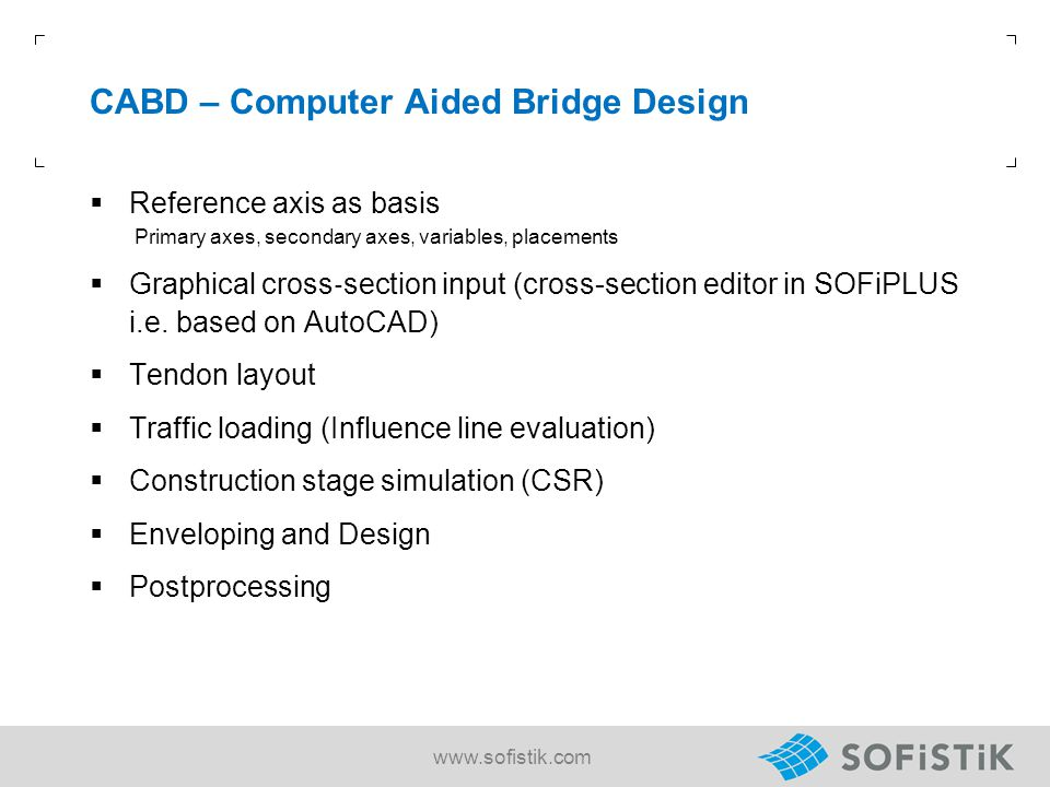 CABD – Computer Aided Bridge Design