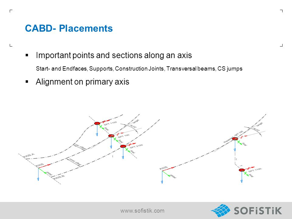 CABD- Placements Important points and sections along an axis