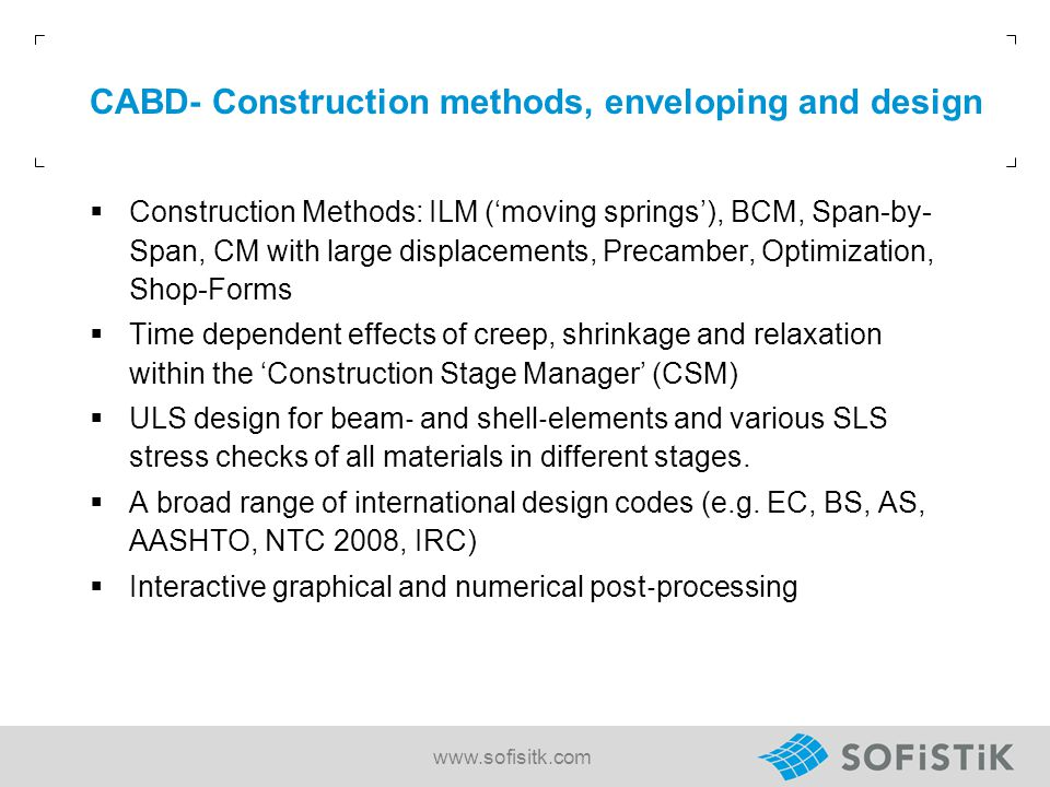 CABD- Construction methods, enveloping and design