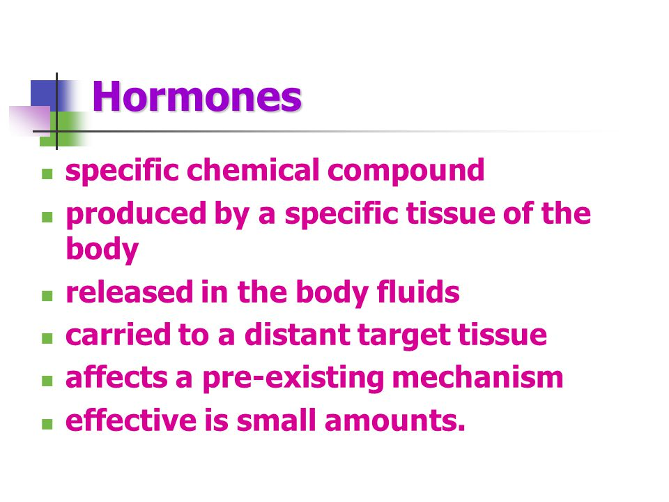 Hormones specific chemical compound