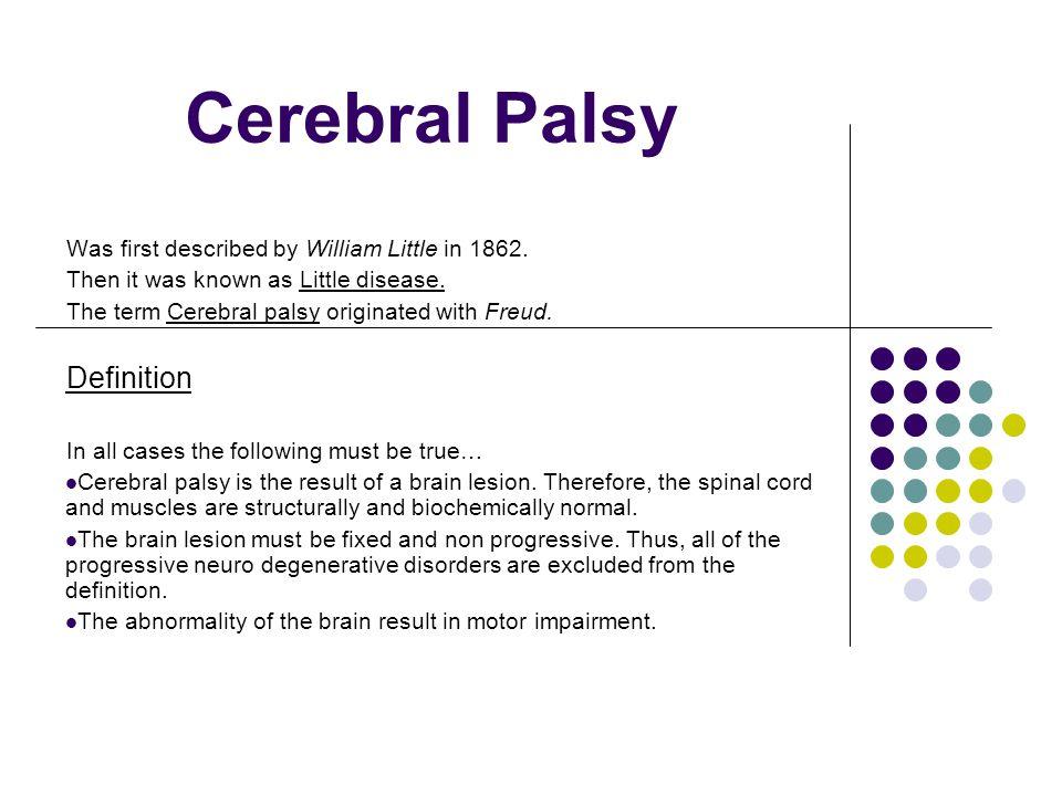 Cerebral Palsy Definition