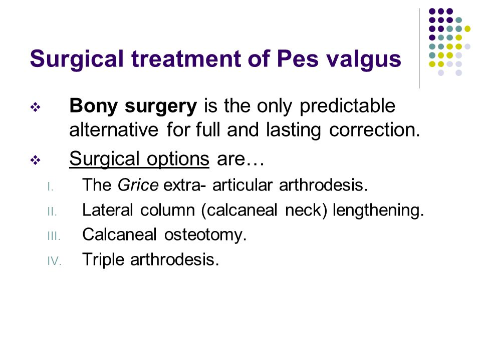 Surgical treatment of Pes valgus