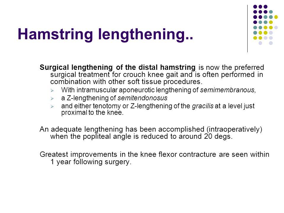 Hamstring lengthening..