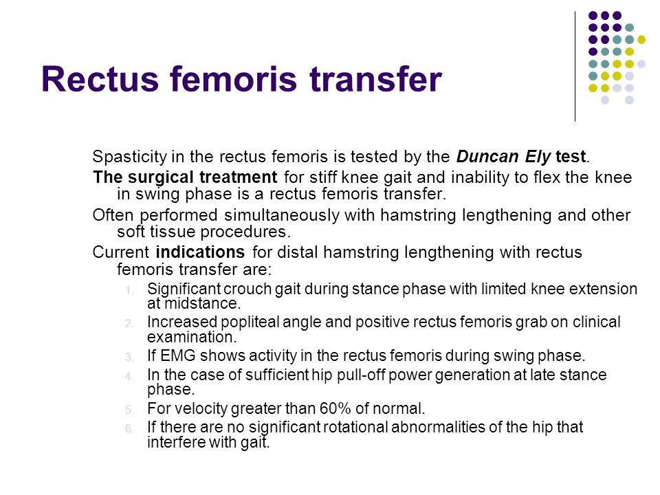 Rectus femoris transfer