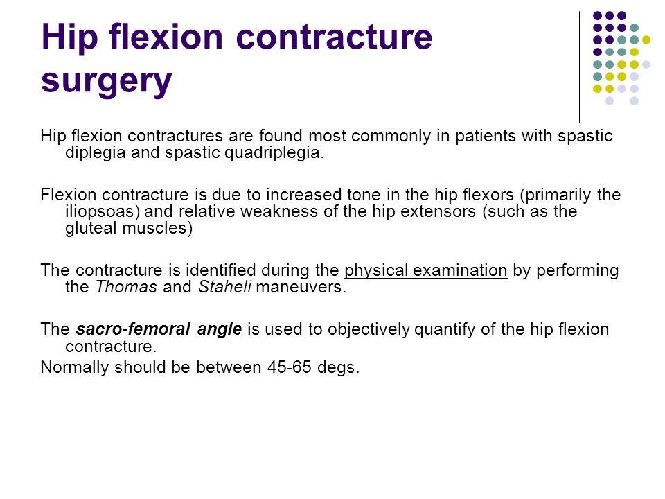 Hip flexion contracture surgery