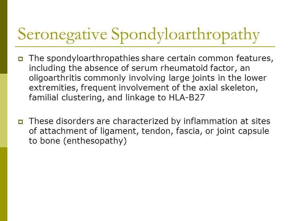 Seronegative Spondyloarthropathy