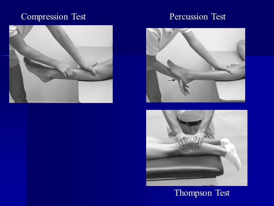 Compression Test Percussion Test Thompson Test