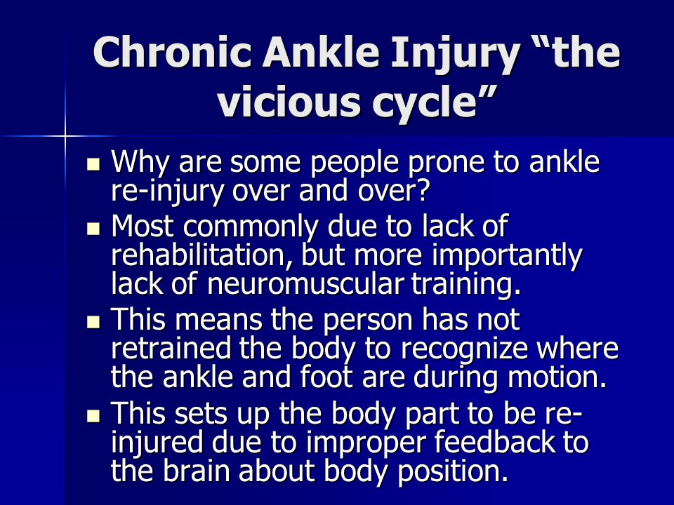 Chronic Ankle Injury the vicious cycle